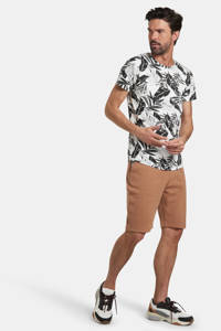 Refill by Shoeby T-shirt Tristan met all over print wit/zwart, Wit/zwart