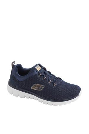 sneakers blauw/goud