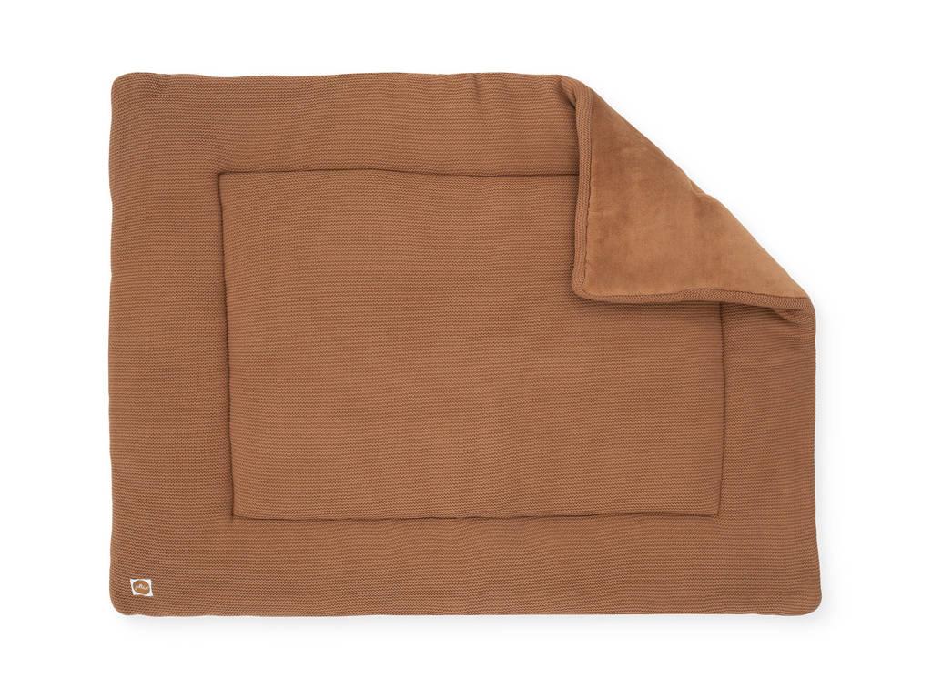Jollein boxkleed Basic knit 80x100 cm caramel, Caramel