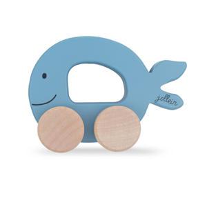 houten speelgoedauto Sea animal blue