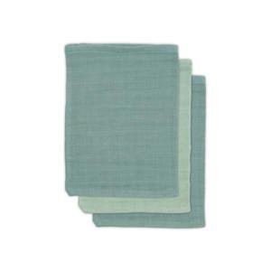 bamboe washandje hydrofiel - set van 3 Ash green