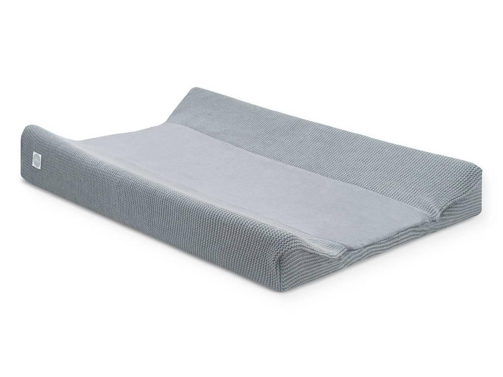 Jollein aankleedkussenhoes Basic knit 50x70 cm stone grey, Stone grey