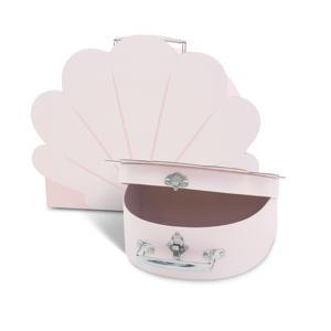 speelkoffertje - set van 2 shell pale pink