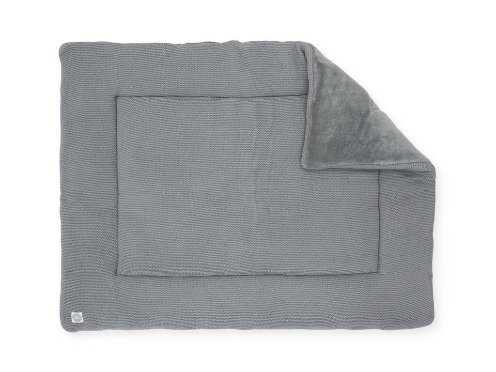 Jollein boxkleed Basic knit 80x100 cm stone grey, Stone grey