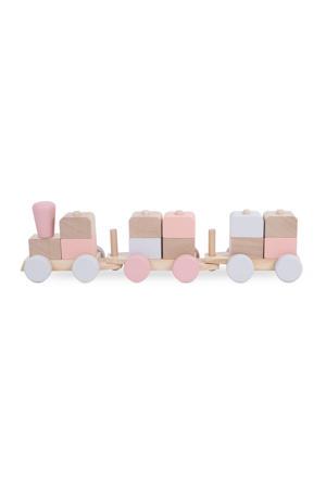 houten speelgoedtrein pink