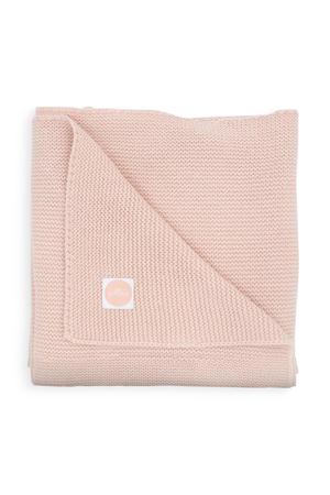 baby ledikantdeken Basic knit 100x150 cm Pale pink