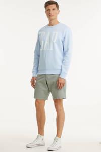 GAP sweater met logo lichtblauw, Lichtblauw