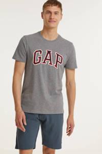 GAP T-shirt met logo grijs melange, Grijs melange