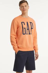GAP sweater met logo licht oranje, Licht oranje