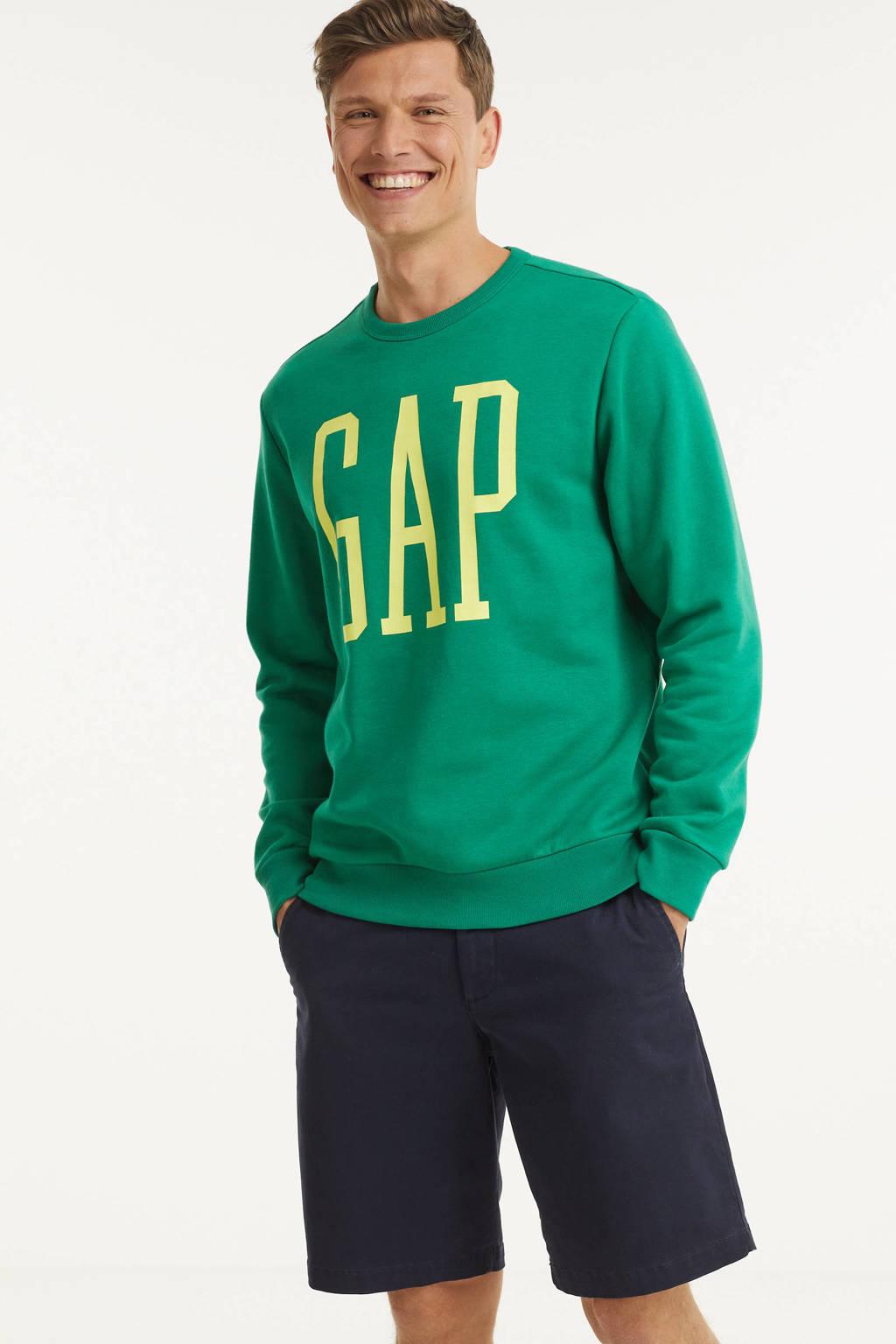 GAP sweater met logo groen, Groen