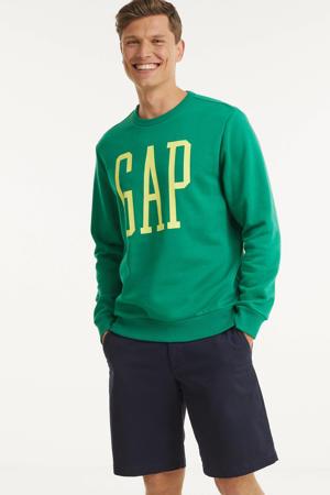 sweater met logo groen