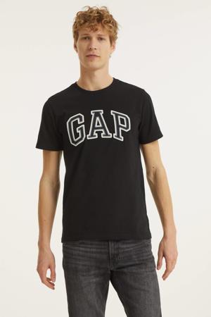 T-shirt Bas Arch met logo zwart