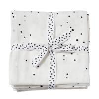 Done by Deer hydrofiele monddoekjes 70x70 Dreamy dots (set van 2) White