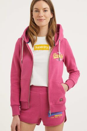 vest met logo roze