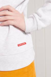 Superdry trui VL CALI CREW met logo lichtgrijs/zwart/oranje