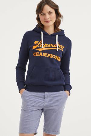 hoodie met printopdruk nautical navy