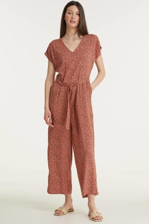 jumpsuit BYMMJOELLA JUMPSUIT - met all over print roodbruin