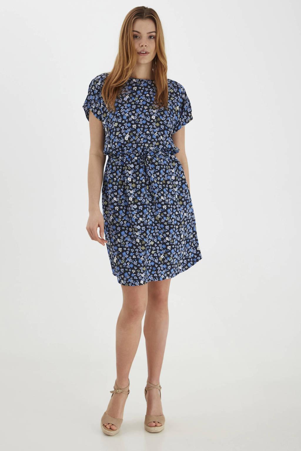 B.Young gebloemde jurk BYMMJOELLA ONECK DRESS - blauw, Blauw