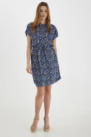gebloemde jurk BYMMJOELLA ONECK DRESS - blauw