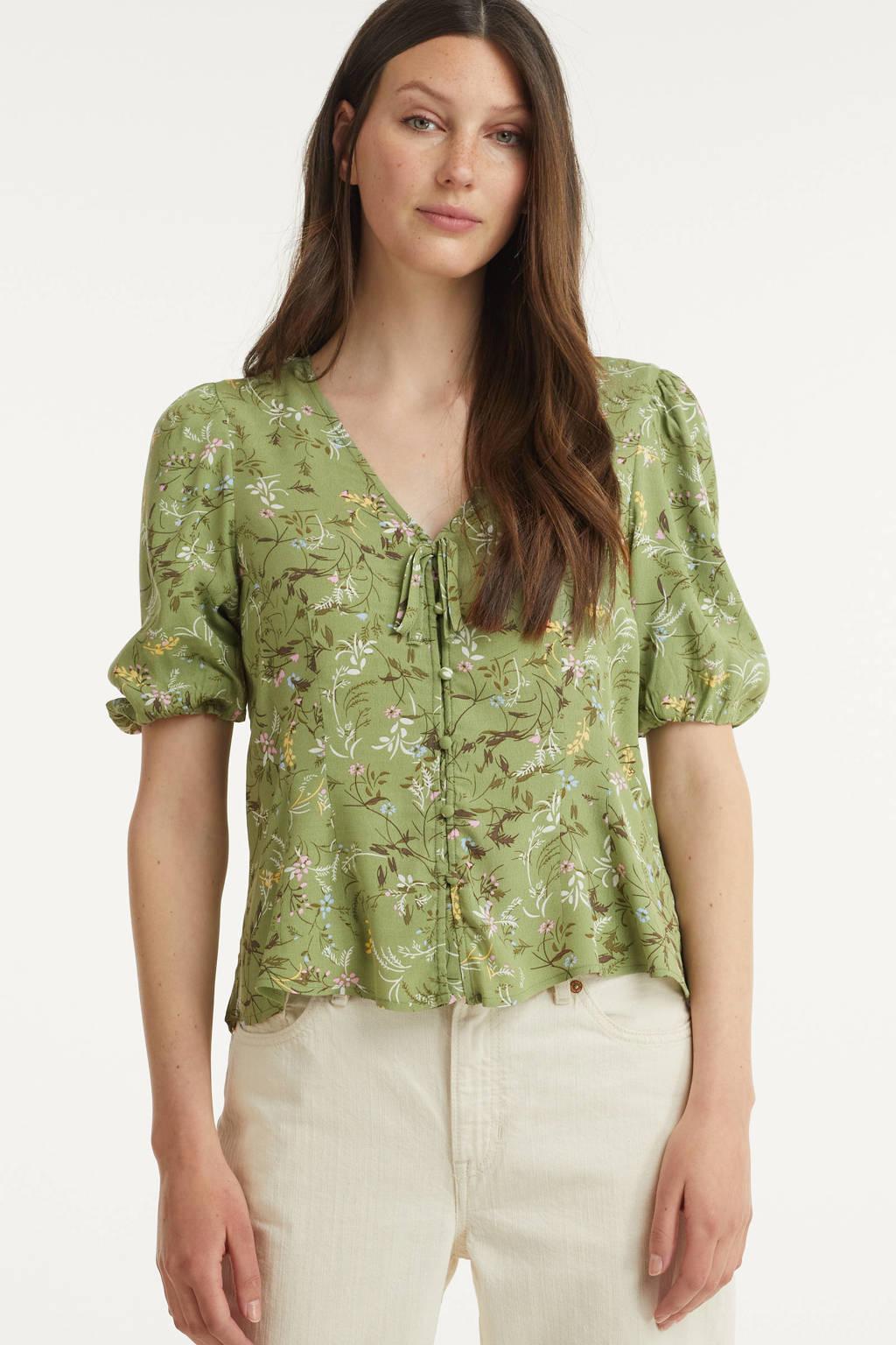 B.Young top BYFLAMINIA FL BLOUSE - met all over print groen, Groen