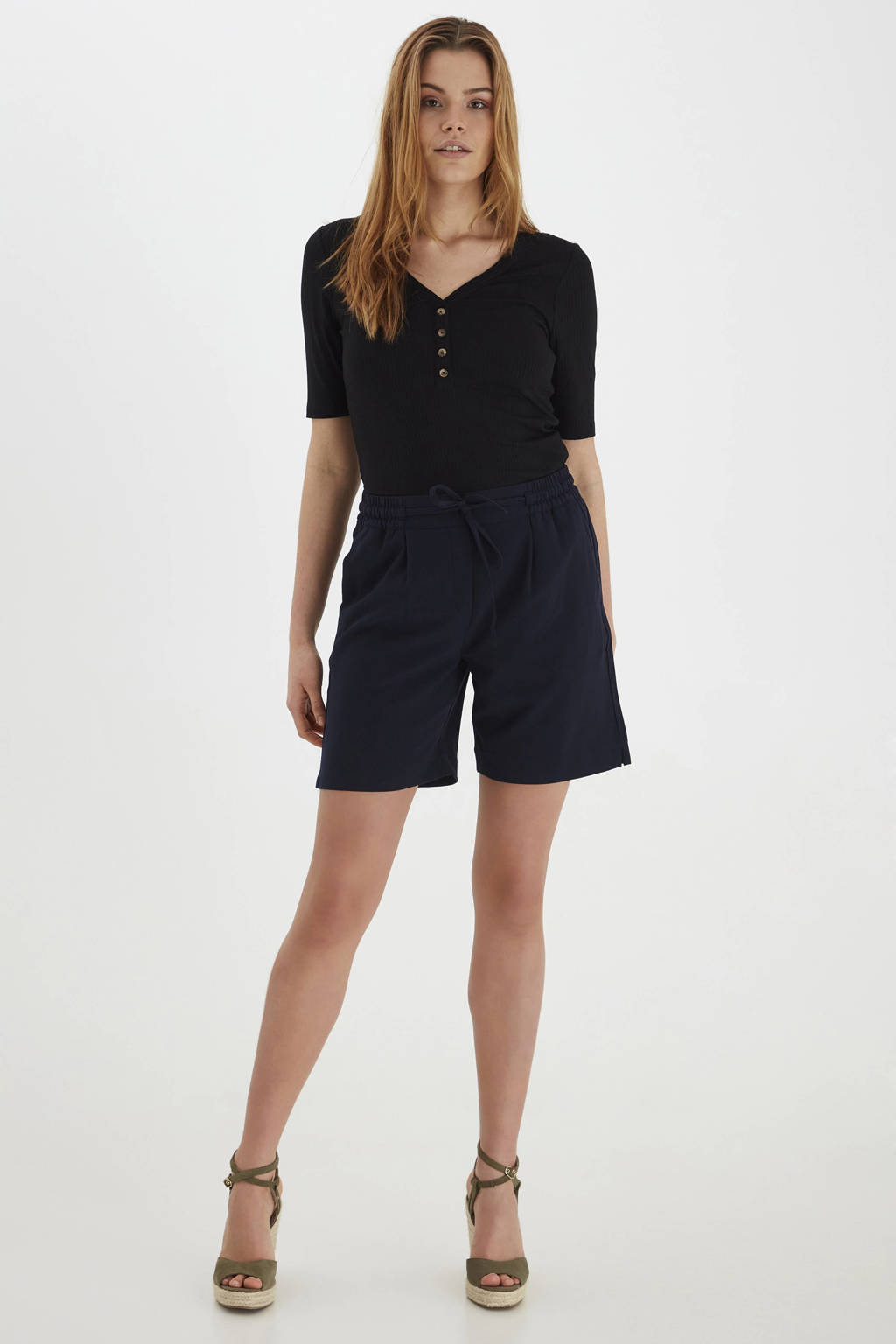 B.Young loose fit short BYDANTA SHORTS 2 - donkerblauw, Donkerblauw