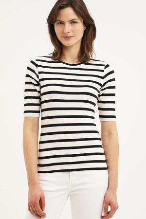 gestreept T-shirt BYPAMILA TSHIRT - met biologisch katoen zwart/wit