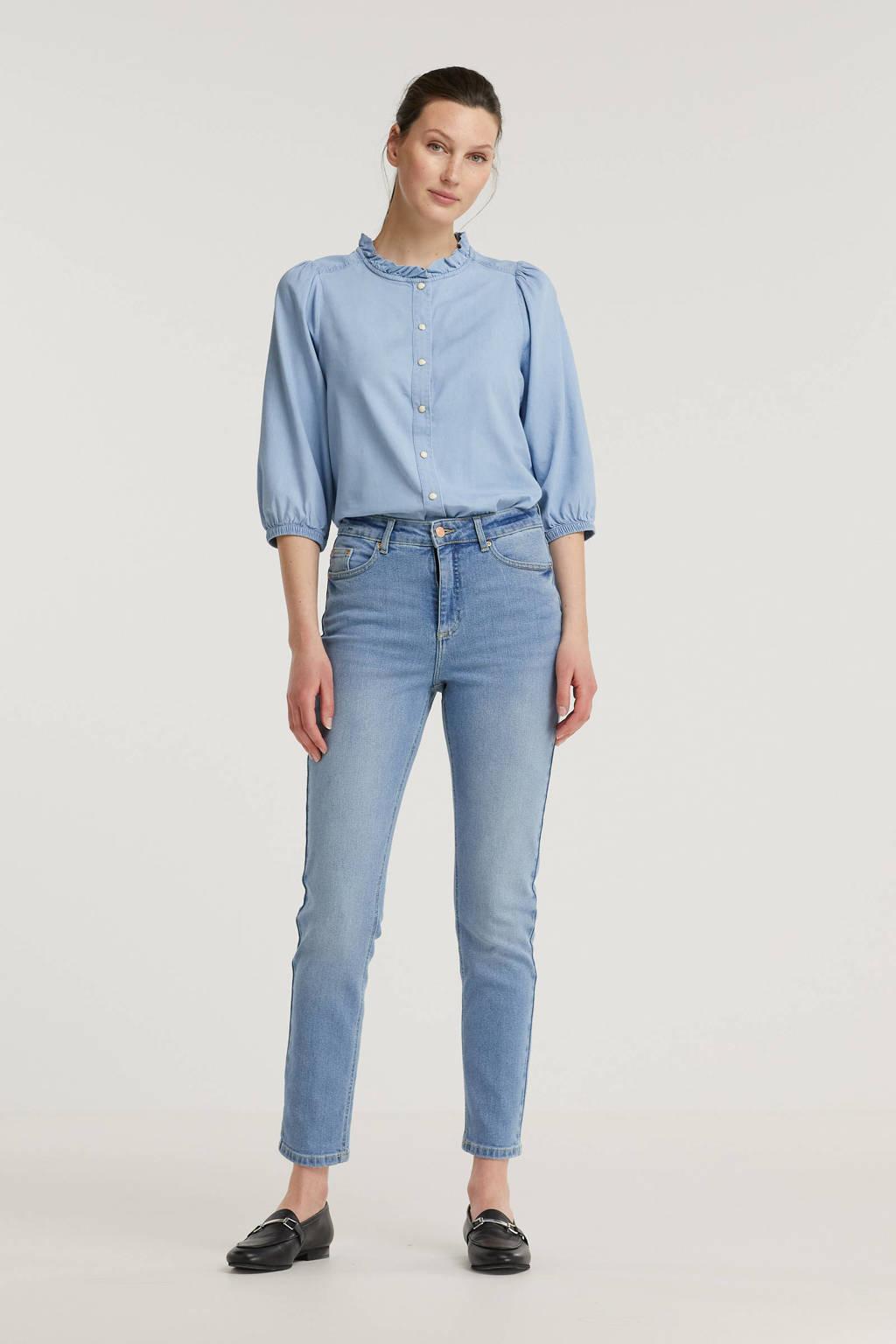 B.Young high waist mom jeans BYKATO BYFVKATRINE light blue denim, Light blue denim