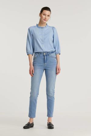 high waist mom jeans BYKATO BYFVKATRINE light blue denim