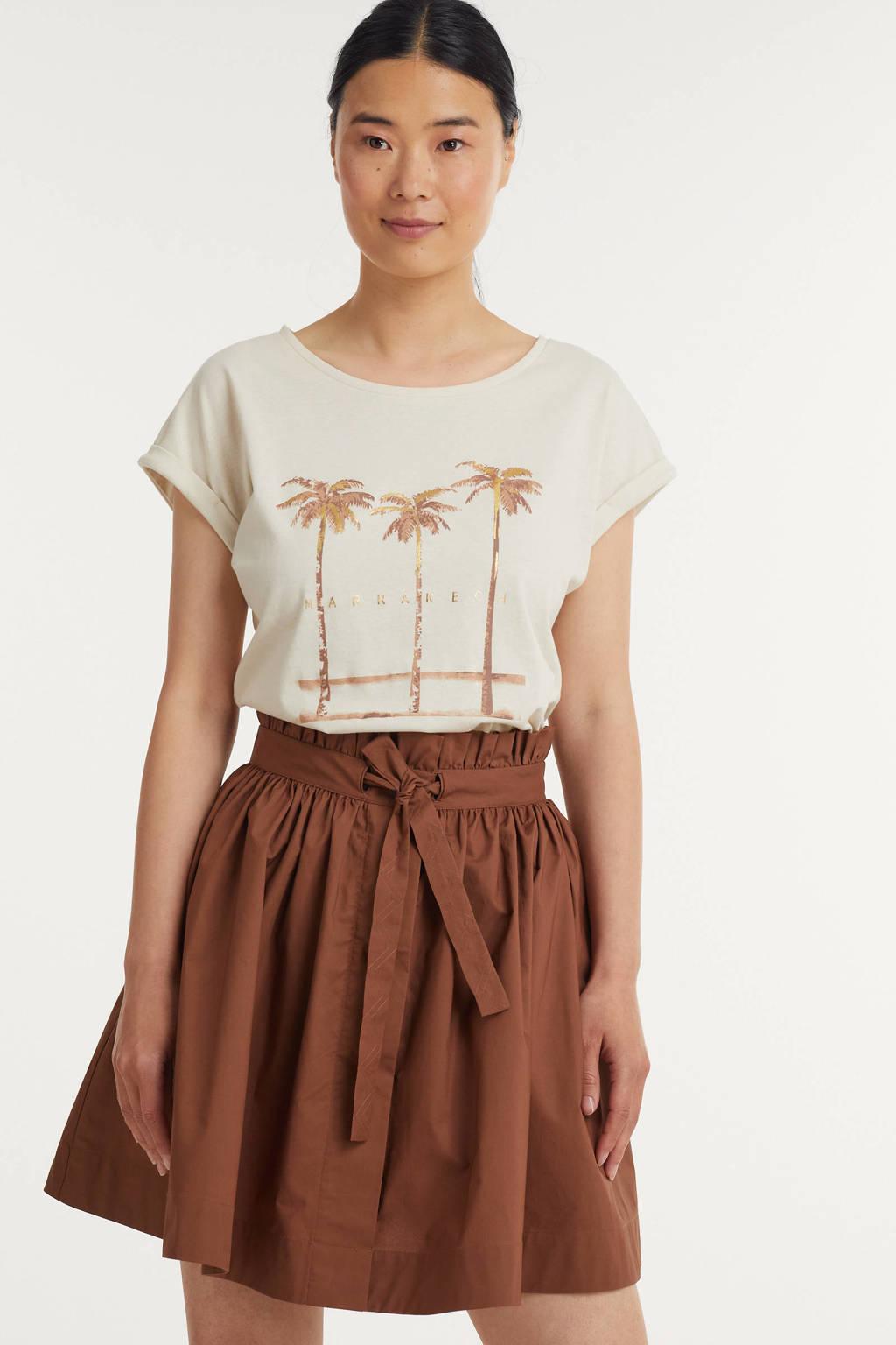 B.Young T-shirt BYSAMIA van biologisch katoen wit, Wit