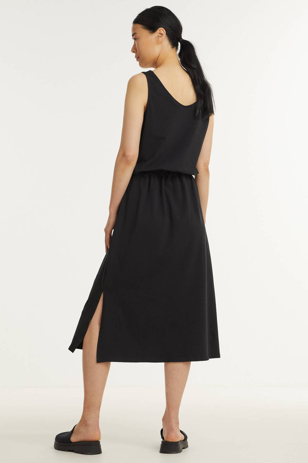 B.Young maxi jurk BYPANDINA met biologisch katoen zwart, Zwart