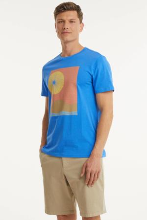 T-shirt met printopdruk breezy blue
