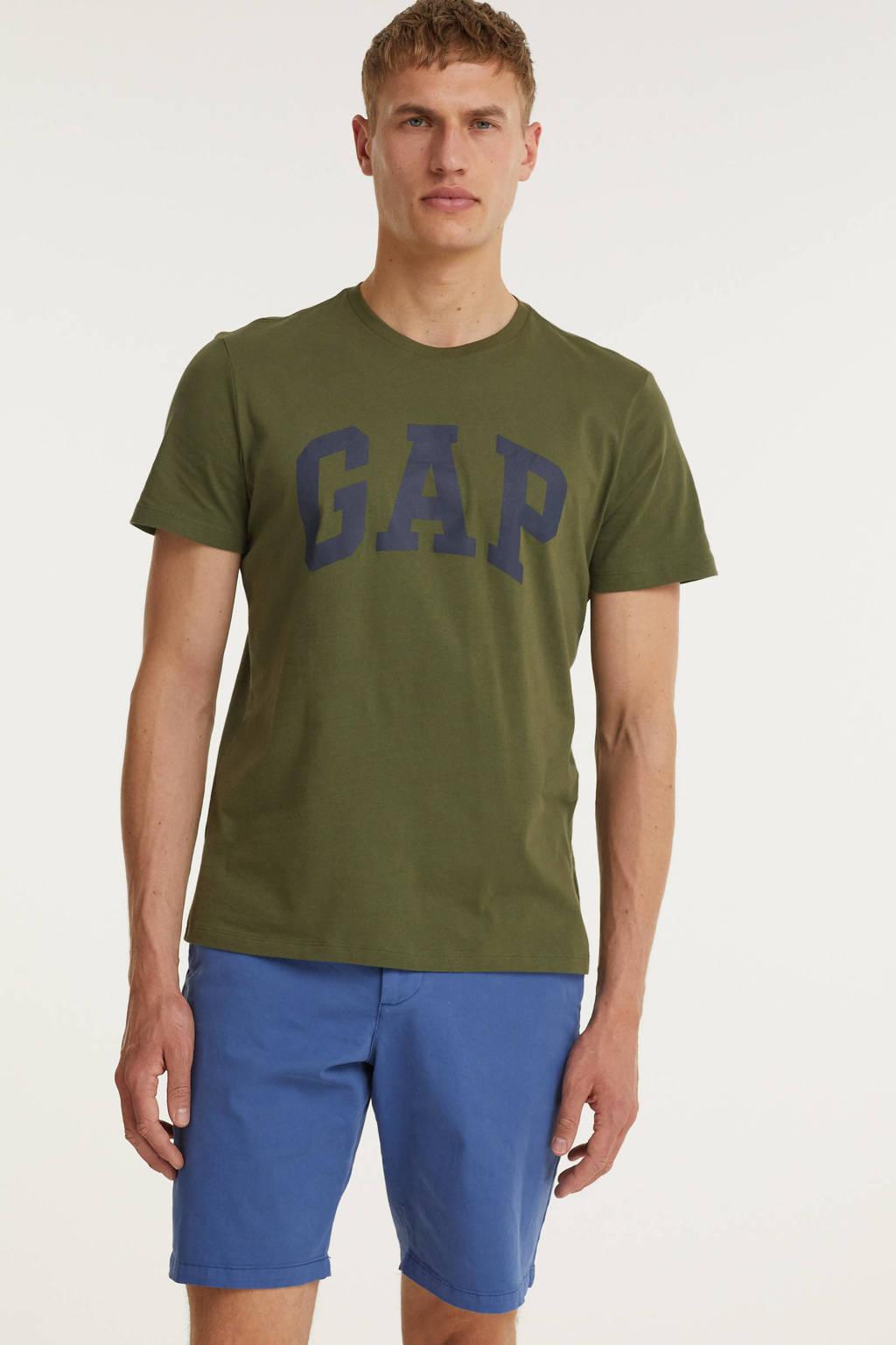GAP regular fit chino short blauw, Blauw