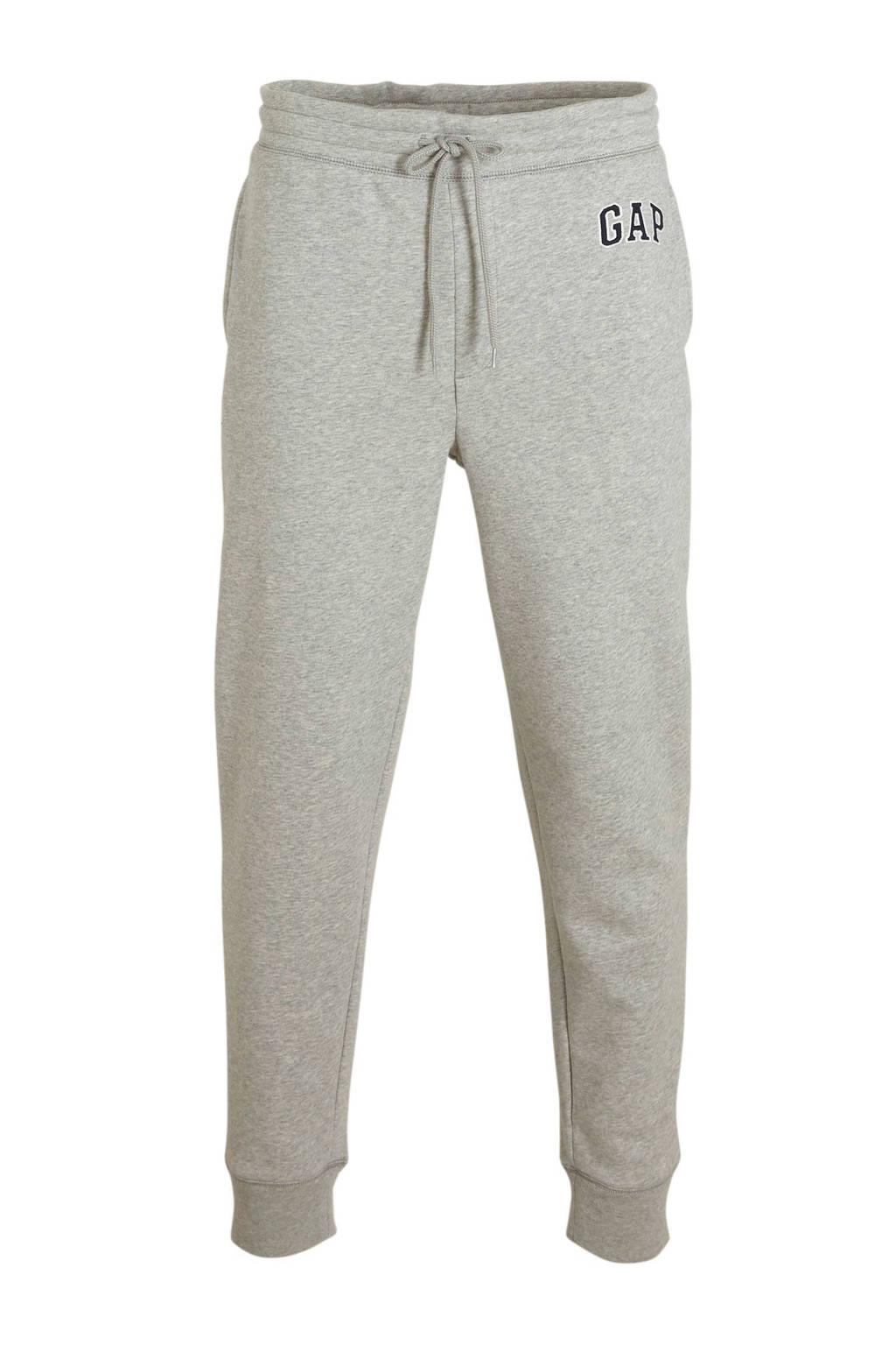 GAP regular fit joggingbroek met logo grijs, Grijs melange