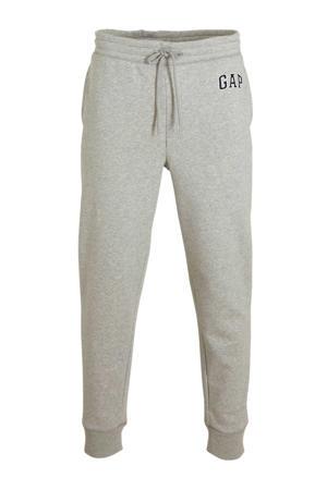 regular fit joggingbroek met logo grijs