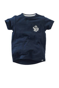 Z8 T-shirt Glade met printopdruk donkerblauw/wit, Donkerblauw/wit