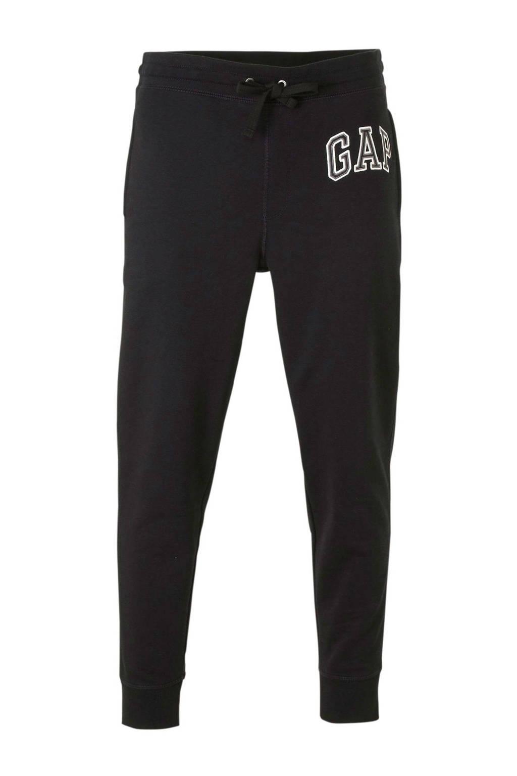 GAP regular fit joggingbroek met logo zwart, Zwart