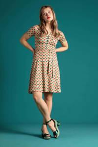 King Louie A-lijn jurk Carmel met all over print en ceintuur multicolor, Multicolor
