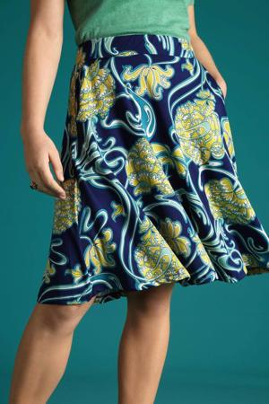 rok Coronado met all over print blauw/geel