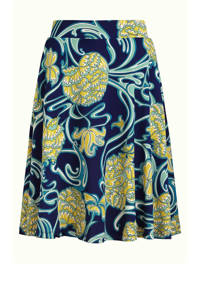 King Louie rok Coronado met all over print blauw/geel, Blauw/geel