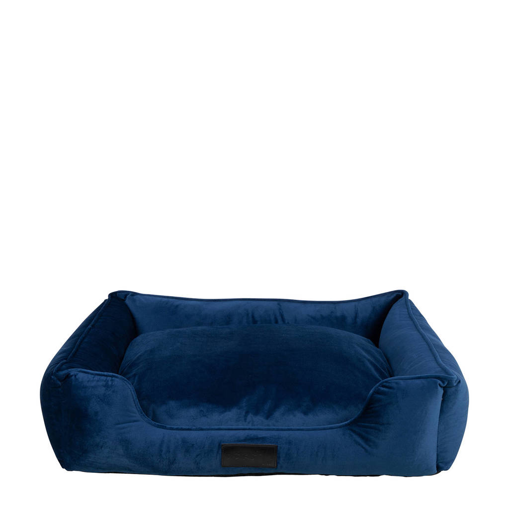 District 70 VELURO hondenmand - Royal Blue - M, Marine blauw
