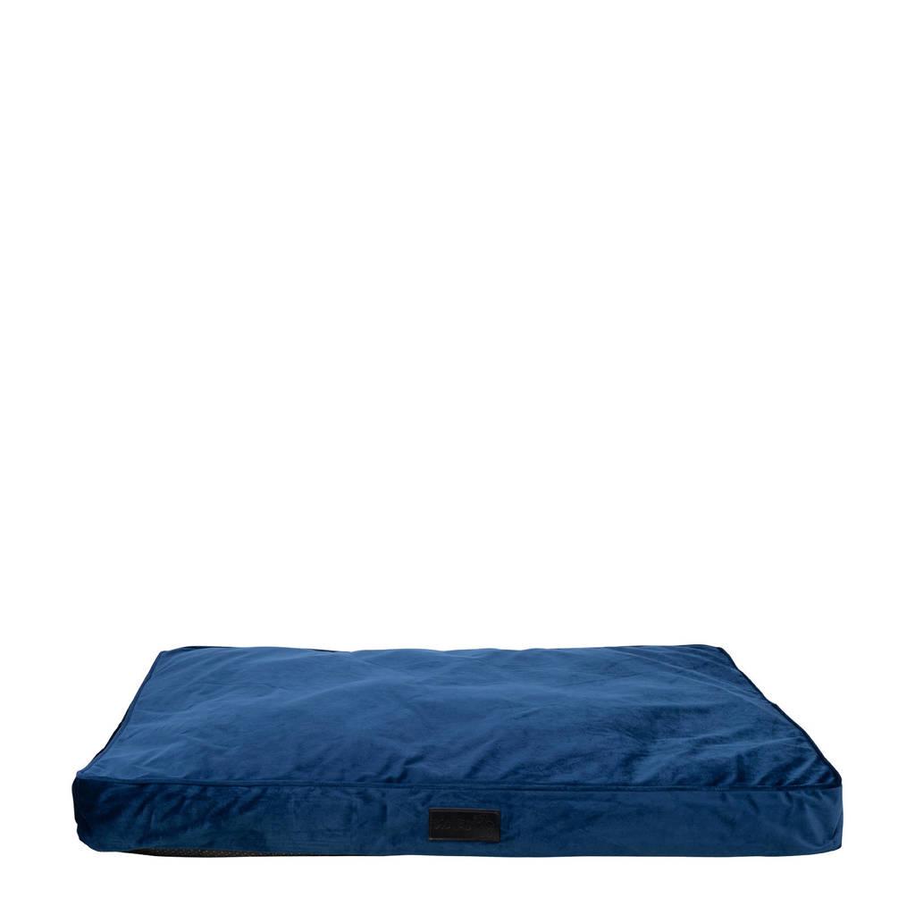 District 70 VELURO hondenkussen- Royal Blue - 100 x 70 cm, Marine blauw