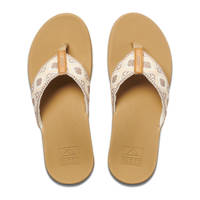 Reef Ortho-Bounce Woven  teenslippers wit, Wit/bruin