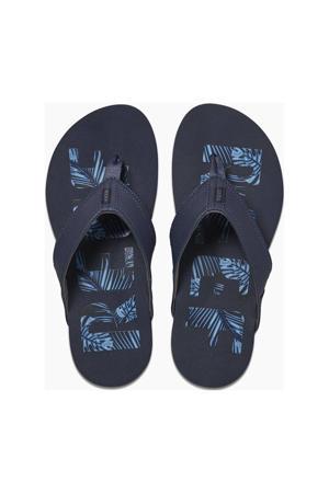 Newport Prints  teenslippers blauw