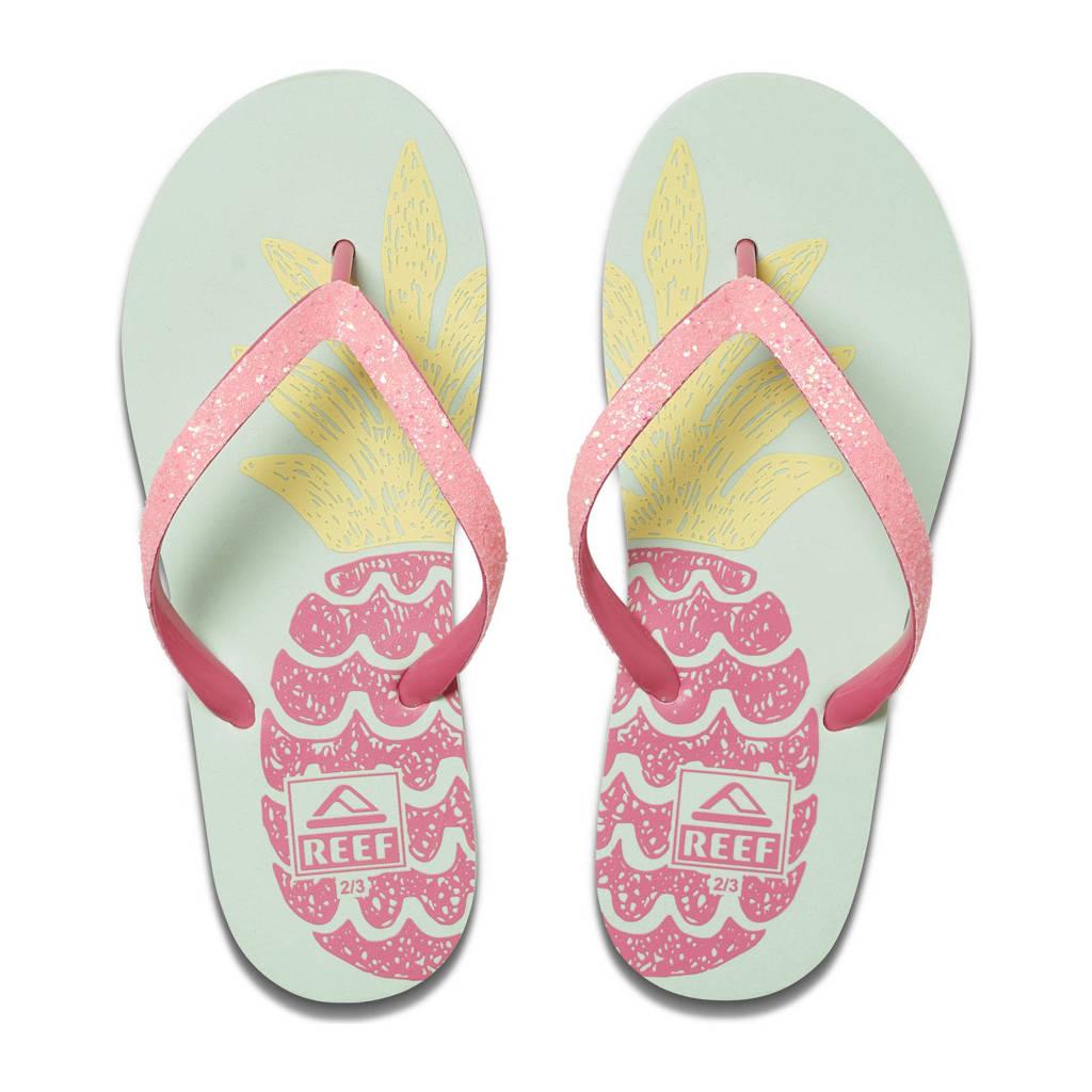 Reef Kids Stargazer Prints  teenslippers met glitters roze/blauw, Roze/blauw
