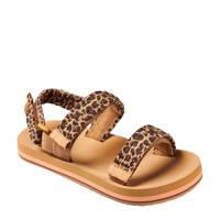 Reef Little Ahi Convertible  sandalen met panterprint bruin, Bruin/zwart