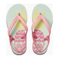 Reef Little Stargazer Prints  teenslippers met glitters roze/blauw, Roze/blauw