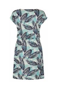 Soyaconcept jurk Felicity met biologisch katoen donkerblauw/lichtblauw/ecru