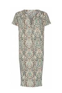 Soyaconcept jurk Pary met all over print blauw/bruin/ecru, Blauw/bruin/ecru