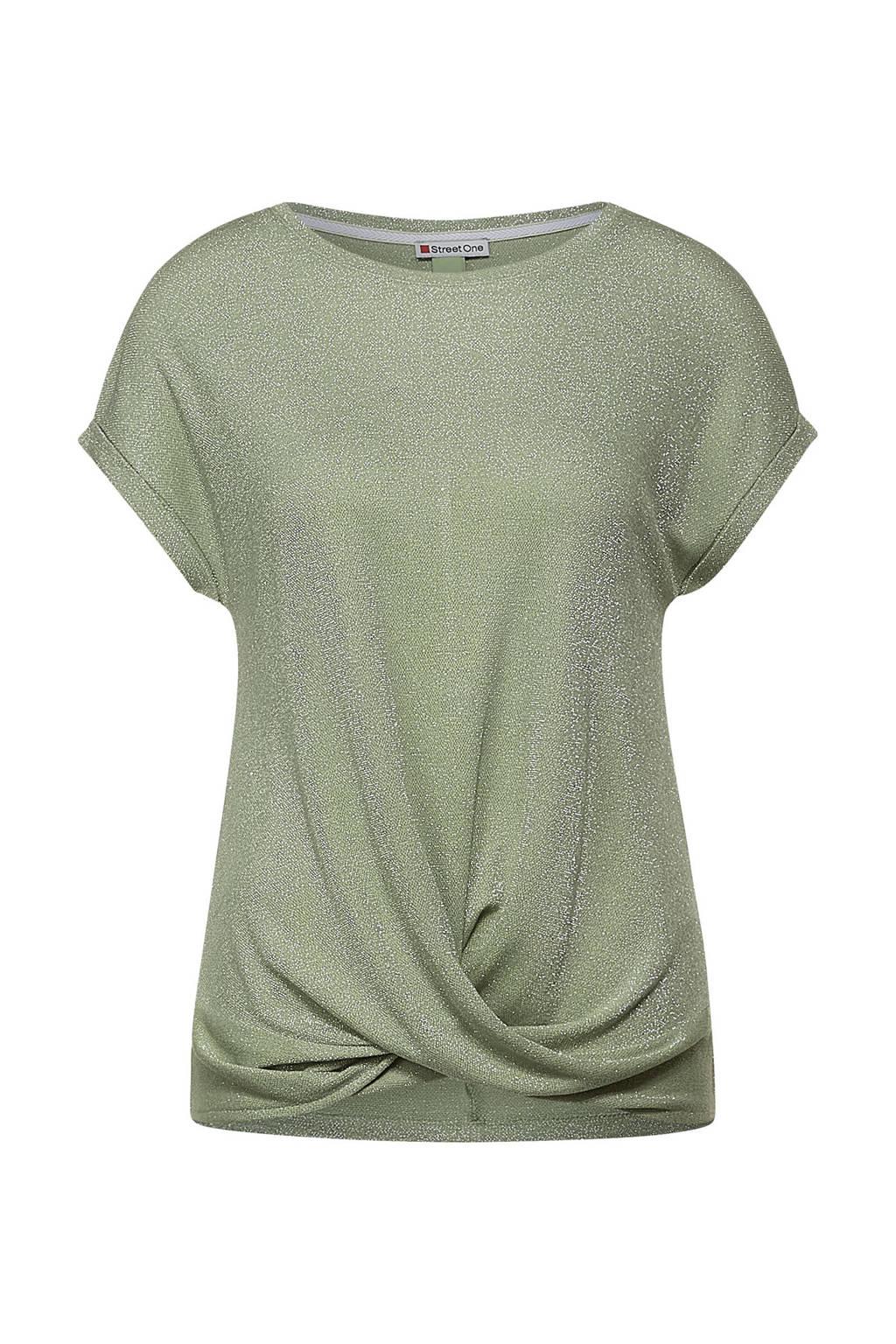Street One T-shirt groen, Groen