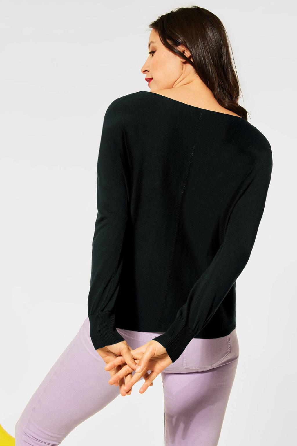 Street One trui zwart, Zwart